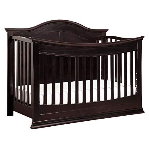 Buy Cheap DaVinci Meadow 4-in-1 Convertible Crib with Toddler Bed Conversion Kit in Dark Java | Gree...
