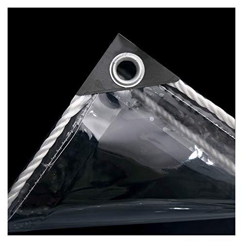 JIANFEI Lona resistente al agua, transparente, resistente al agua, cubierta de invernadero, 650 g/㎡ de grosor 0,55 mm (color: transparente, tamaño: 2,0 x 5 m)