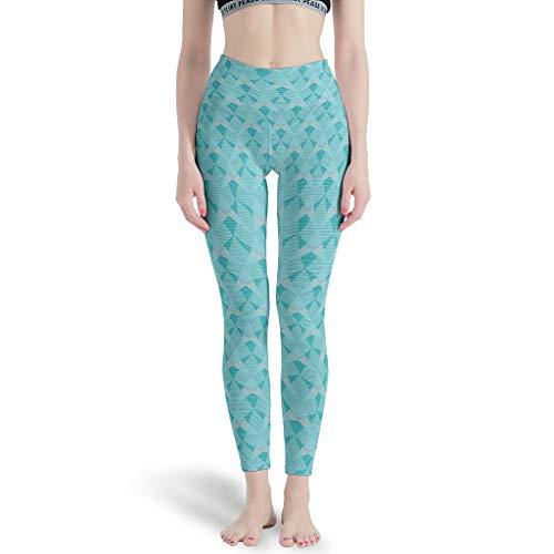 Bannanabut Graphics - Pantalones de yoga para niñas geométricas de cintura alta, pantalones de entrenamiento para jugar
