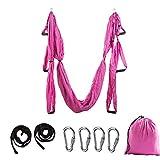 Ariyalk Aerial Yoga Hängematte Set, Elastische Tuch Sling Swing Vertikaltuch Yogatuch Hammock Fitness para Pilates Gymnastik