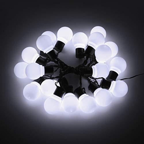 Led-lichtsnoer op zonne-energie, 2,5 m, 5 m, met 10/20 gloeilampen, lichtketting, tuin, buitenverlichting, lampdecoratie