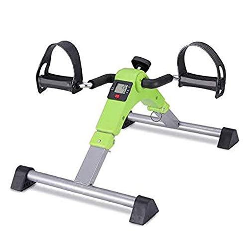 UIZSDIUZ Pedal Plegable ejercitador, Mini Bici de Ejercicio de Brazos y piernas Aparatos for Hacer Ejercicio Brazo/Pierna/Pedal Ejercicio, visualización electrónica