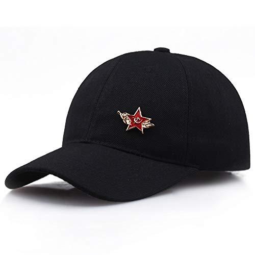 ZXF DDZBZ Insignia Comunista Logotipo Gorra de béisbol Ocio al Aire Libre Sombreros y Viseras de Deportes para Hombres y Mujeres (Color : Black)