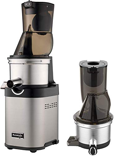 Kuvings NSF Commercial Slow Juicer, CS700, Slow-Rotating Motor Reduces Noise, Ultra-Efficient 200W, 60RPMs, Inc. 1 Extra-Top Set, Stainless Steel