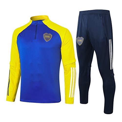 Camiseta del Club Europeo 2020-2021 Nueva Temporada de Juego de los Hombres de Manga Larga Transpirable Entrenamiento de fútbol, Media Competencia tirón Suit (Tops + Pants) HK0716 A00201