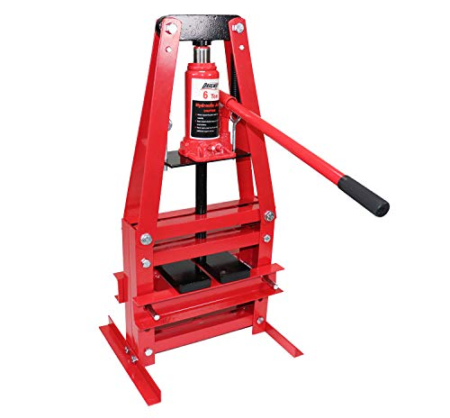 Dragway Tools 6-Ton Benchtop Hydraulic A-Frame Shop Press with Press Plates