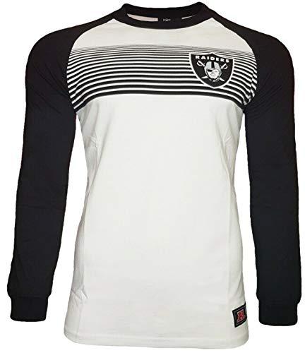 NFL Majestic Oakland Raiders Raglan-Langarm-T-Shirt L weiß