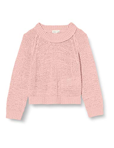 NAME IT Mädchen NKFKORRY LS Short Knit Sweater, Coral Blush, 134-140