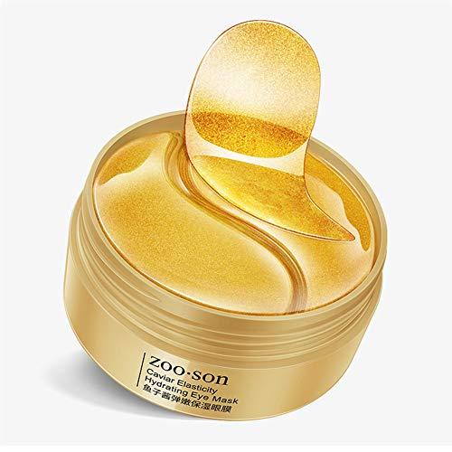 Qianren Golden Eyes Mask Anti-Aging-Kaviar-Gel Augen Hautpflege-Patches 30 Paar Feuchtigkeitsspendend Reduzieren Sie Krähenfüße Anti-Schwellungen Augenpads