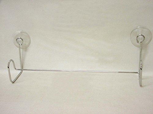 Desconocido TOALLERO Barra Simple Recto Metal Cromado con VENTOSAS