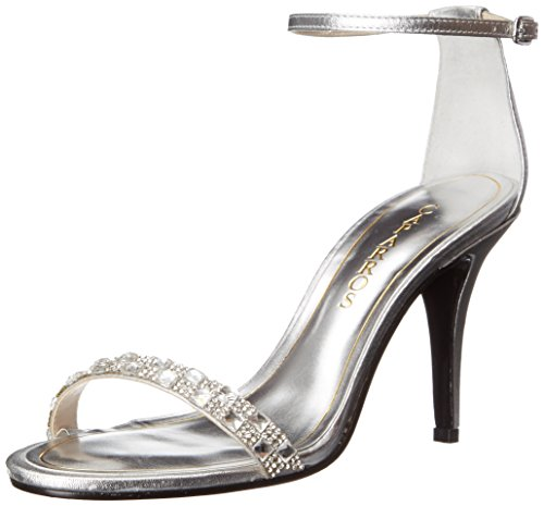 Caparros Women's Sequoia Dress Sandal, Silver/Metallic, 8.5 M US