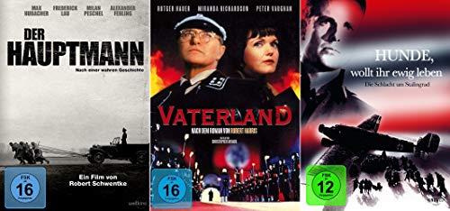 History Edition: Vaterland + Der Hauptmann + Hunde wollt ihr ewig Leben? [3er DVD-Set]