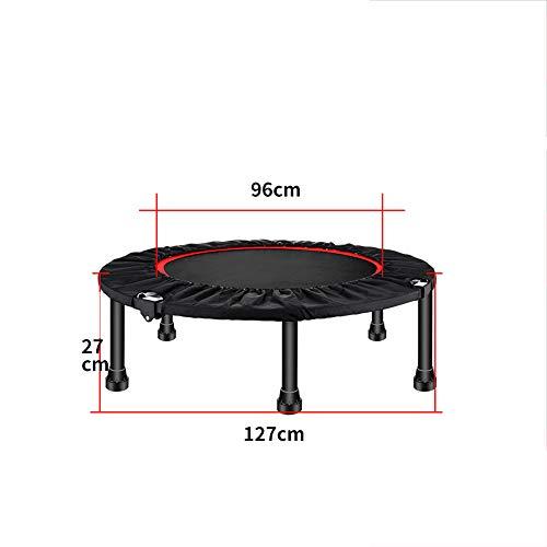 JTKDL Mini trampoline, inklapbaar, voor fitnesstraining, 50 inch, maximale draaglast 425 kg voor cardio-training in de sportschool