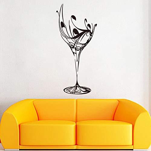 Art Design Woondecoratie Pvc Islamitische Wijnglas Muursticker Verwijderbaar Huisdecor Creatieve Mooie Decals 28 * 61Cm