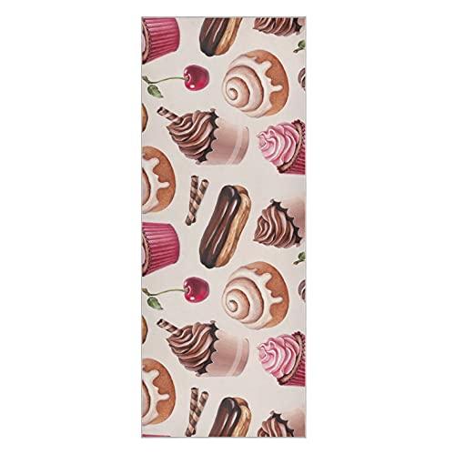 Funda para esterilla de yoga Chocolate Eclair Cinnamon Bun y cupcakes Illust Hot Yoga Mat Toalla antideslizante Super suave antideslizante esterilla de toalla de yoga adecuada para la playa
