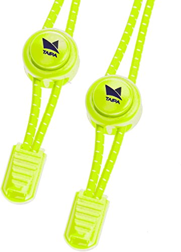 TAIPA Laces - Schnellschnürsystem I Elastische Schnürsenkel mit Schnellverschluss für Kinder und Sportler (Neongelb)