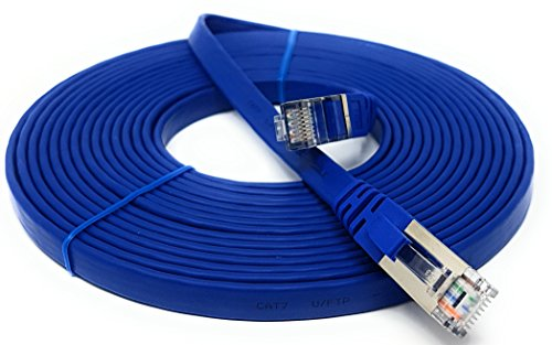 7.5m - Cat 7 - Cable de red Ethernet Gigabit Lan (RJ45) | 10/100/1000Mbit/s - Compatible con CAT.5 / CAT.5e / CAT.6 | Switch/Router/Modem/Patch Panel/Patch Fields
