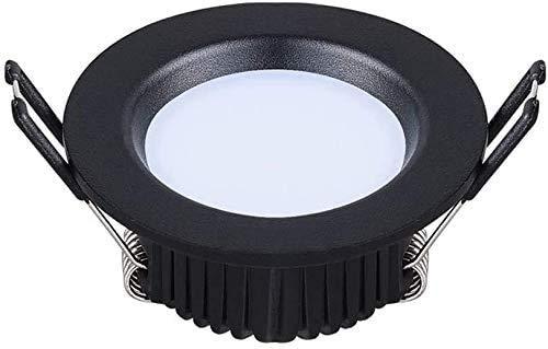 Dkdnjsk Black is anti-glare recessed downlight 3W Round Mini LED Downlight Embedded Wine Cabinet Showcase LED Spotlight CRI80+ Aluminum Durable LED Recessed Ceiling Light 50-60mm Installation Hole Dis