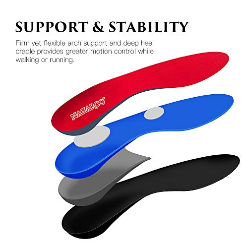 Shoe Insoles Arch Support Inserts Orthotic Insoles for Plantar Fasciitis, Flat Feet, High Arch, Pronation, Heel Spurs & Foot Pain