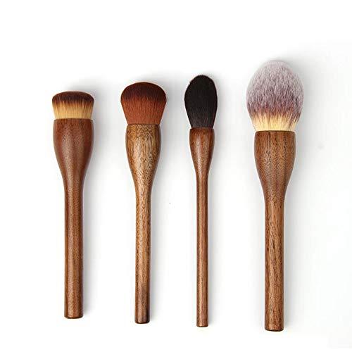 4Pcs brosse de maquillage, brosse en poudre lâche, Blush brosse, brosse de fondation, pinceau brillant, brosse magique