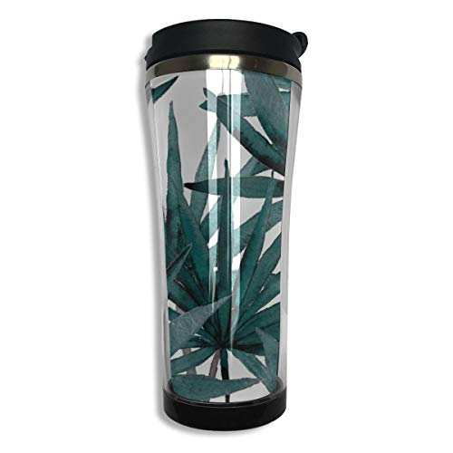 14oz Double-layer Vacuum Insulated Coffee Mug Teahhh 304 Stainless Steel Insulated Water Bottle Nature Fresh Tropical Rainforest Bamboo Best Coffee Mughhh For Men Women