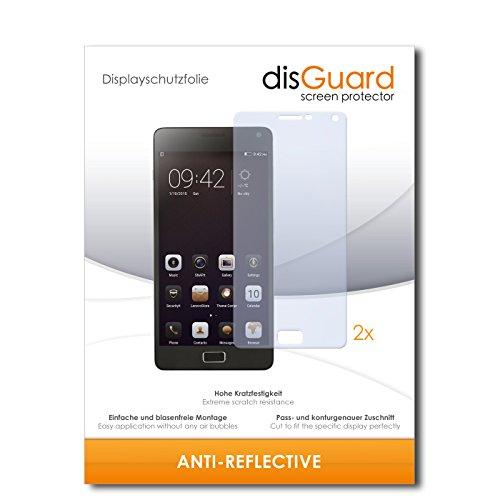 disGuard® Bildschirmschutzfolie [Anti-Reflex] kompatibel mit Lenovo Vibe P1 [2 Stück] Entspiegelnd, Matt, Antireflektierend, Extrem Kratzfest, Anti-Fingerabdruck - Panzerglas Folie, Schutzfolie
