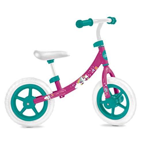 Mondo Toys - Unicorn Balance Bike - biciletta senza pedali per bambini - peso fino a 25 Kg. - colore bianca/blu/rossa - 28480