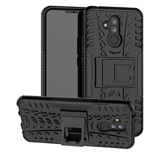 Labanema Huawei Mate 20 Lite Funda, [Heavy Duty] [Doble Capa] [Protección Pesada] Híbrida Resistente Funda Protectora y Robusta para Huawei Mate 20 Lite (con 4 en 1 Regalo empaquetado) - Negro