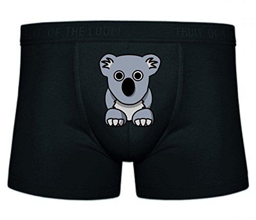 Druckerlebnis24 Boxershort Koala- Tier- NIEDLICH- GRAU- BÄR- AUSTRALIEN S- XXL Sexy Unterhose Slip Shorts
