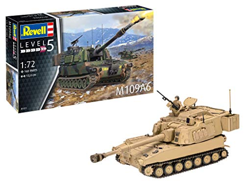 03331 M109A6 Paladin Tank Plastic Model kit 1:72 Scale, Unpainted - Revell RV03331