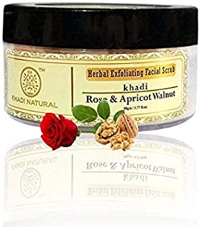 Khadi Natural Ayurvedic Rose and Apricoat Walnut Facial Scrub, 50g