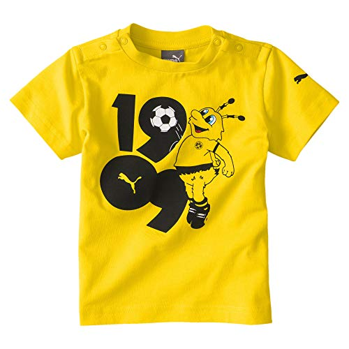 PUMA Kinder BVB Minicats Graphic Tee T-Shirt, Cyber Yellow, 92
