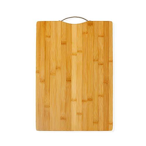 ZZB002-38×27cm AKOZLIN 調理用まな板 抗菌 竹まな板 カビ防止 立て型 竹まな板 軽量な環境に優しい 竹 の カッティングボード 使い分け フック付 肉野菜果物 調理・製菓道具 1枚-37×28cm