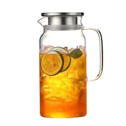 SayHia Moederdag - Veilige + loodvrije glazen theepot ketel - 1200 ml inhoud - Afneembare roestvrijstalen opgietsel - ideaal voor losse bladeren thee, theezakjes en vruchtwater