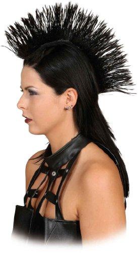 Crazy Iro, Irokesen-Haarteil, Perücke in verschiedenen Farben, Farbe:schwarz