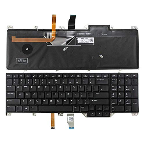 Gobuy New Laptop Replacement Keyboard for DELL Alienware P31E P31E001 P31E002 Light...