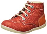 Kickers BONZIP-2, Botas Cortas al Tobillo Unisex bebé, Rouge Orange Galactic, 26 EU