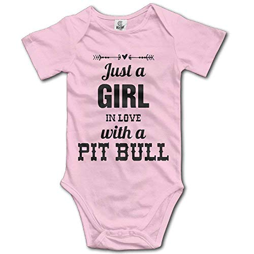 Stylish Home Babystrampler Just A Girl in Love with A Pit Bull Lover Gr. 92, mehrfarbig