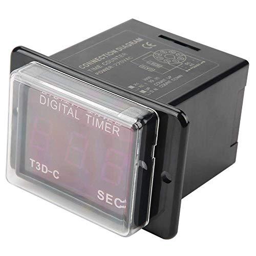 Yaseking Tiempo de relé, temporizador LED Digital T3D-C 99.9/999 MIN SEC Contador HR Tiempo for el hogar inteligente