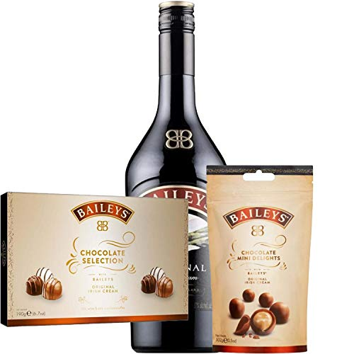 Baileys and Chocolate Mini Delights Gift Set Hamper with Chocolate Selection Box and Name-a-Rose Gift
