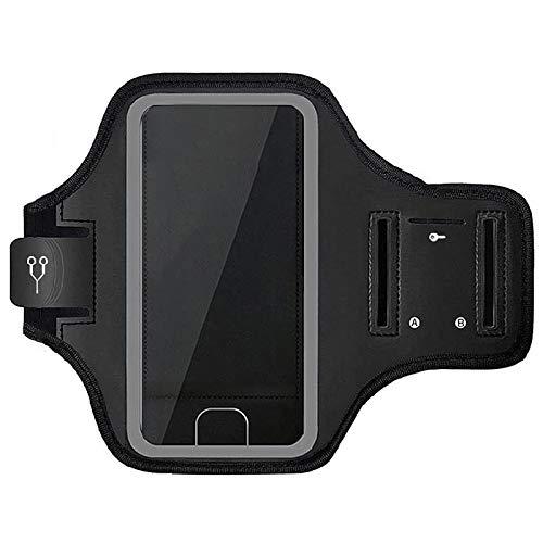 Goodtimera Brazalete deportivo para teléfono móvil, para correr, fitness, deporte, resistente al agua, con soporte para llaves
