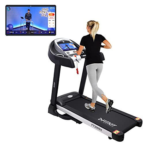 Fitkit FT200SX (4.5HP Peak) DC-Motorised Treadmill ( Max Speed:14km/hr, Incline: Auto, Max Weight: 110 Kg ) With Free Home...