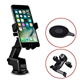 TERSELY Universal Mobile Phone Car Holder Mount, 360°Rotating Car Phone Cradle Holder Suction