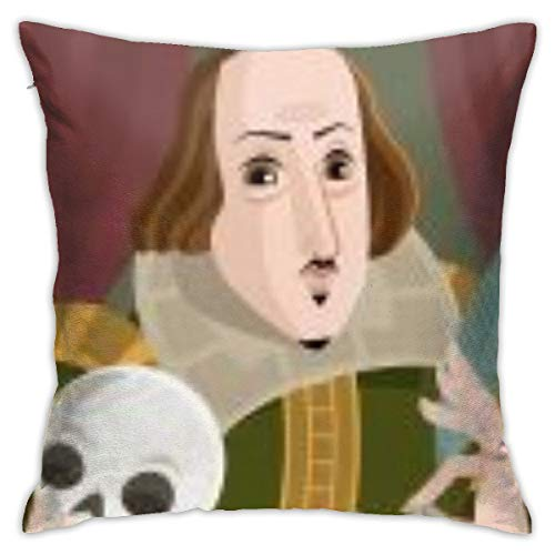 no band Simple Decorative Pillow Covers, Cushion Cover18x18 Inches, Invisible Zip-Best Writer Cartoon