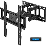 TV Wall Mount Swivel and Tilt, JUSTSTONE Full Motion TV Wall Mount Bracket with Height Setting for Most 27-65 Inch TVs, Articulating Arms with Smooth Extension, Max VESA 400x400mm up to 121lbs