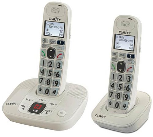 Clarity D712 Moderate Hearing Loss Cordless Phone with D702HS Expandable Handsets (Clarity D712 with (1) D702HS)