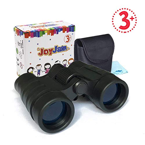 Binoculars for Kids Small Pocket Binoculars Toys Portable Compact Shock Proof Binoculars Gifts for Children Age 3-12 Best Christmas Birthday Presents Party Favors for Kids (Black)