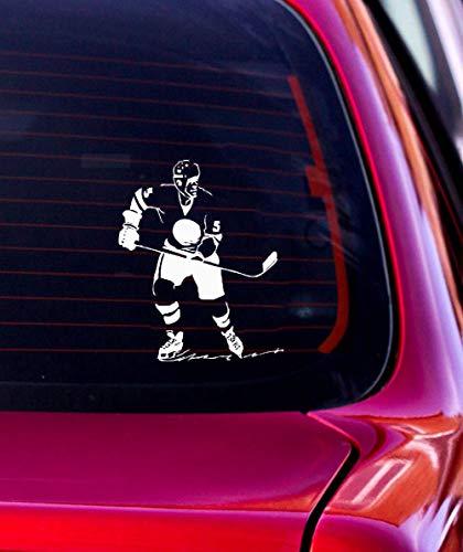 Lustige Auto Aufkleber 11 cm x 13,5 cm kreative lustige Sport Eishockey Auto Aufkleber s Mode-Accessoires für Auto Laptop Fenster Aufkleber