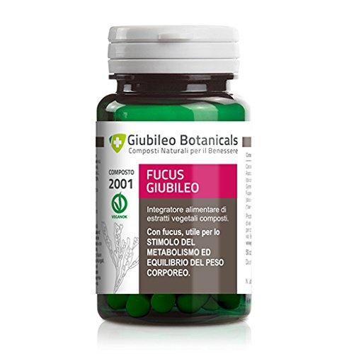 Composto ad alta concentrazione di principi attivi | Fucus Giubileo 50cps - Integratore alimentare  che aiuta a stimolare il metabolismo per ridurre il peso corporeo