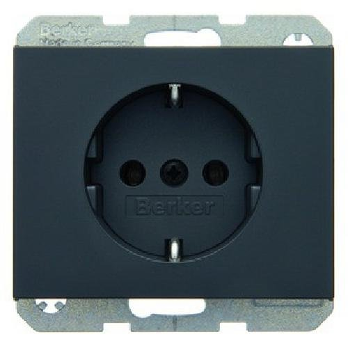Hager 47157006 Socket-Outlets (Type F, Anthracite, Plastic, Thermoplastic, 16 A, 50/60) ASIN: B0011DBZWW Bei Amazon anzeigen, Anthrazit